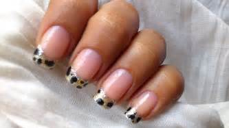 leopard nail art tutorial in french tip nails designs for
