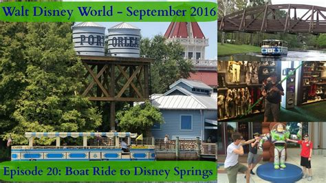 boat ride disney springs episode 20 taking a boat ride to disney springs once