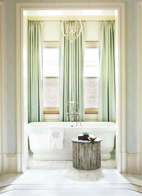 mint colored curtains seafoam green bathroom seafoam green and white bathroom
