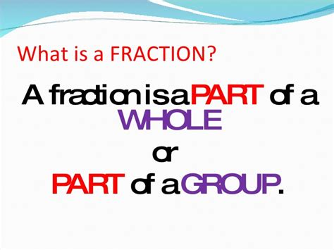 what is a what is a fraction