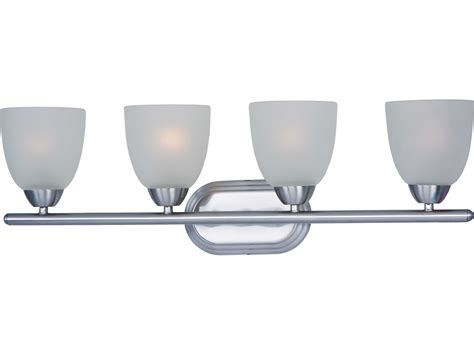Axis Lighting by Maxim Lighting Axis Polished Chrome Frosted Glass Four Lights Vanity Light 11314ftpc