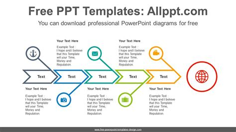 Fishbone Arrow Powerpoint Diagram Template Fishbone Template Powerpoint