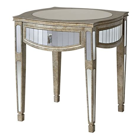 mirrored glass accent table with drawer mirrored end tables with drawers images about mirrored