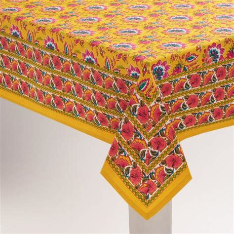 Mexican Table Cloth by Floral Mexican Boho Tablecloth World Market