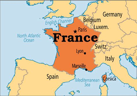 The Map Of France by May 25 France Operation World
