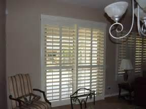 Plantation Shutters On Sliding Patio Doors Plantation Shutters On Sliding Glass Doors Traditional By The Louver Shop