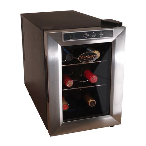 Rack Warehouse Vt by Vinotemp Vt 6teds 6 Bottle Wine Cooler Black Brushed
