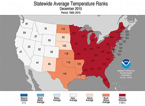 us average temperature map december no matter where you live in the u s 2015 was hotter than
