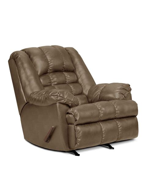 big man recliners leather simmons sand chaise leather big man s rocking recliner