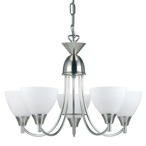 5 Arm Ceiling Light Endon Lighting Satin Chrome 5 Arm Ceiling Light Fitting 5x60w Ses 1805 5sc