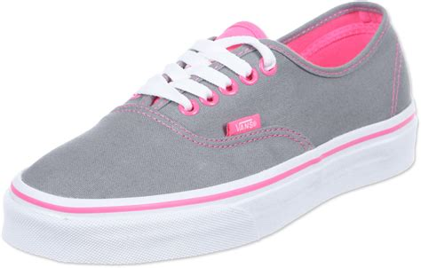 vans authentic shoes grey pink