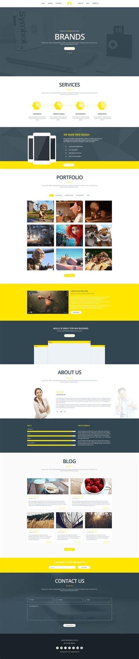 artica psd one page web template preview web design pinterest