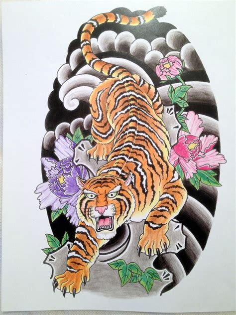 japanese tiger designs japanese tiger on behance