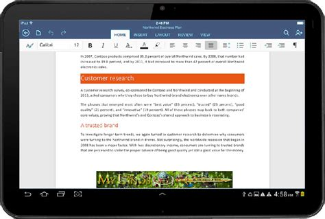ms office for android microsoft released office for android tablets