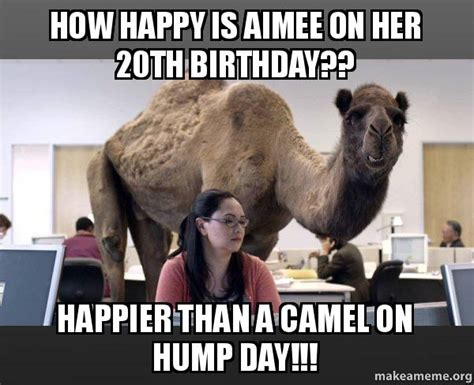 20th Birthday Meme - how happy is aimee on her 20th birthday happier than a