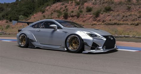 lexus rcf widebody the rocket bunny lexus rc body kit made its debut last