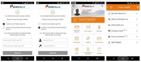 icici bank mobile banking apps icici bank updates imobile app with now integration