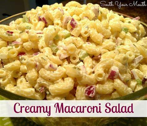 creamy pasta salad favehealthyrecipes com creamy macaroni salad recipe has a little quot trick quot that