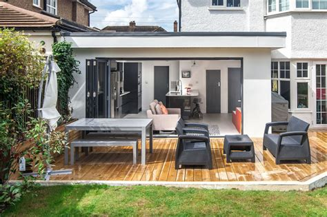 home design story move door single storey extension to 1930s house in long ditton by l