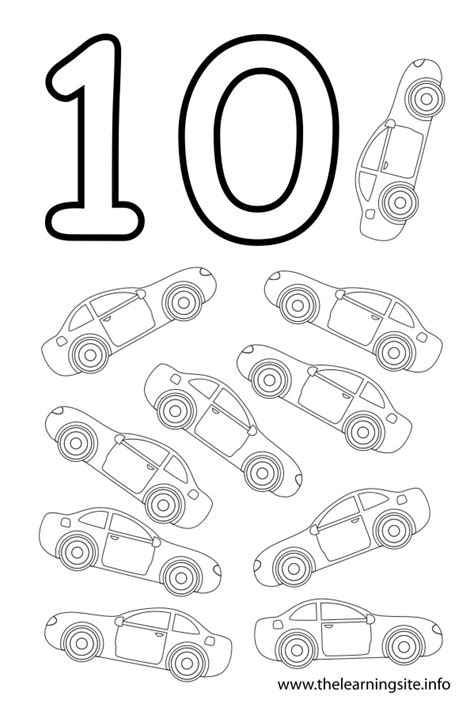 coloring page of the number 10 number ten coloring pages images