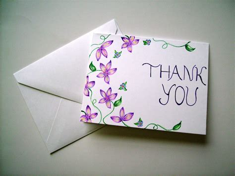card draw thank you card blank card greeting card floral