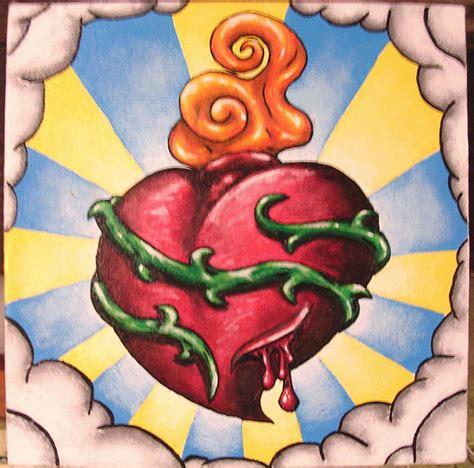 tattooed heart original artist sacred heart by ryan p