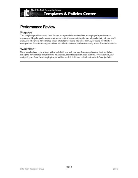 Performance Review Worksheet by 28 Performance Review Worksheet Performance