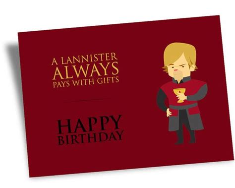 Thrones Birthday Card Printable Digital Happy Birthday Game Of Thrones Card