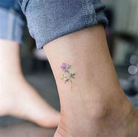 foot tattoos small flower ankle flowers ideas for review
