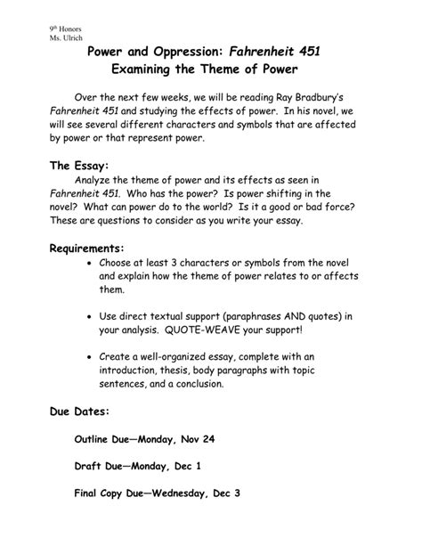 Fahrenheit 451 Essay Topics by Fahrenheit 451 Essay Title Https I1 Wp Degregoristore Images Fahren Ayucar