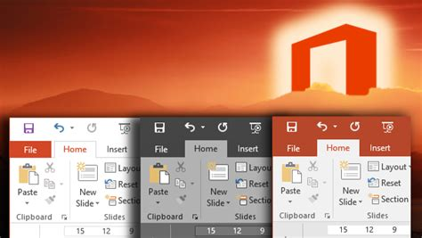 Office 365 Outlook Look And Feel Office 2016 Better Look And Feel Options For Menus