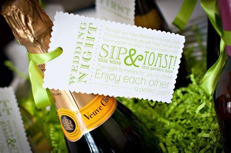 wedding night tag for wine basket gift   The Celebration
