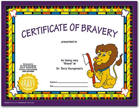 bravery certificate template beautiful bravery award template pictures inspiration