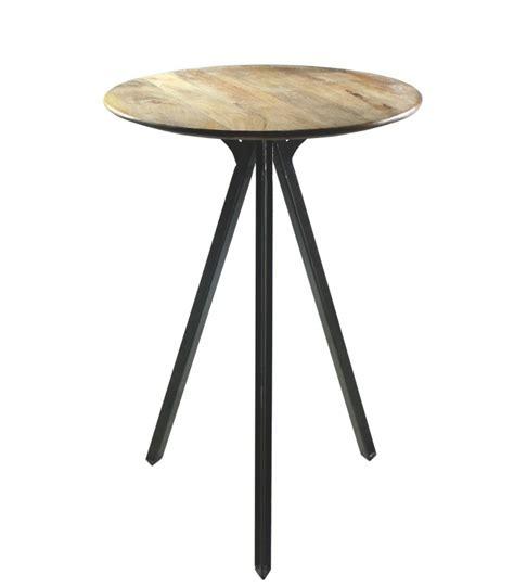 Table Haute Bois Et Metal