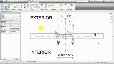 revit tutorial reference plane revit 2017 adding a subcategory to a reference plane youtube