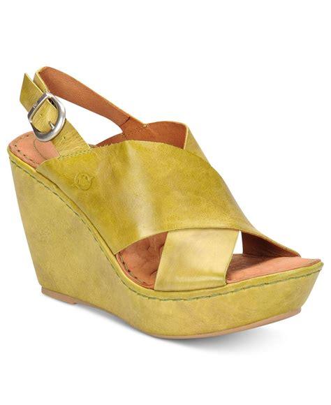 born emmy platform wedge sandals