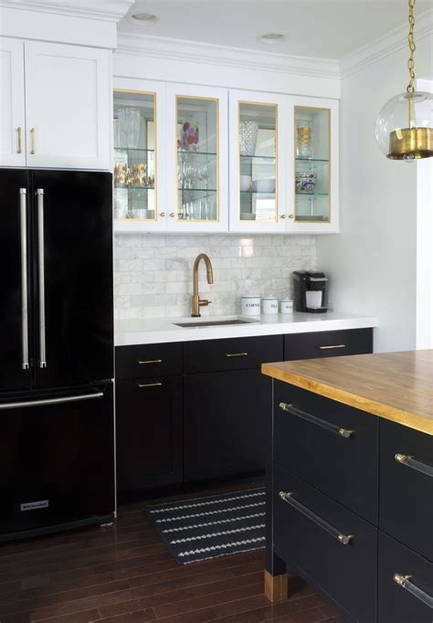 black kitchen cabinets gold hardware kitchen cabinet