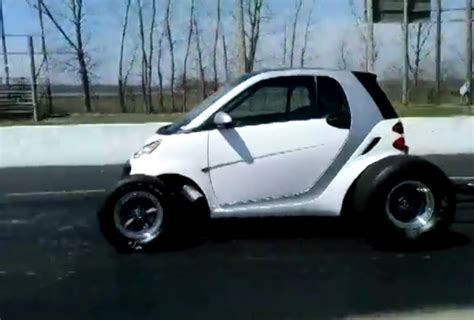 cars like smart car big block smart car pulls wheelies sounds like the apocalypse