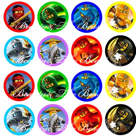 Party Decorations Stores Ninjago Stickers Ninjago Cupcake Toppers Birthday Party