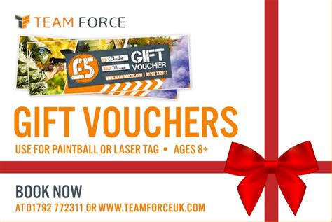 christmas gift vouchers teamforce paintball in swansea