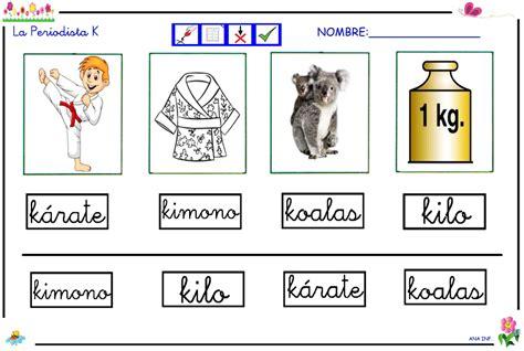 imagenes que comienzan con la letra k infantiles de ana v la periodista k y los sonidos ca co cu