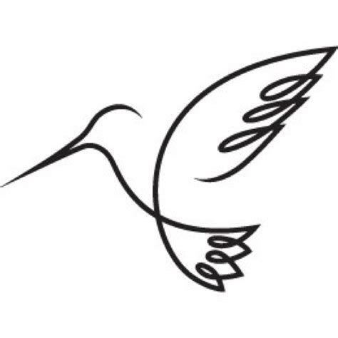 hummingbird outline tattoo simple hummingbird coloring pages