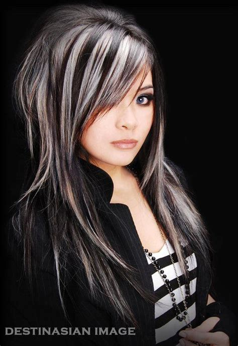 black and white hair color 14 wonderful brunette hairstyles with blonde highlights