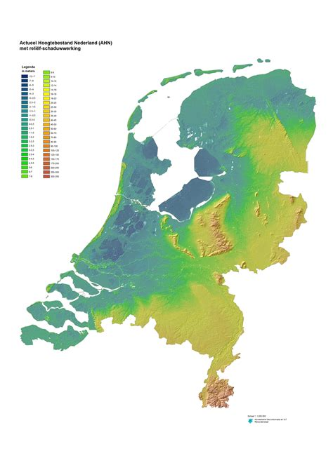netherlands altitude map hoogte nijmegen the elevation of a town that