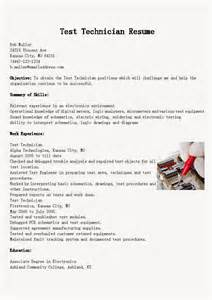 Test Technician Sle Resume by Resume Sles Test Technician Resume Sle