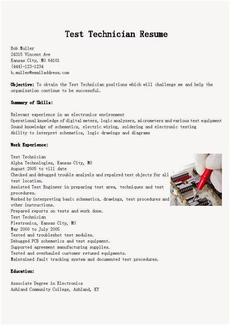 Skills And Capabilities Resume Examples by Resume Samples Test Technician Resume Sample