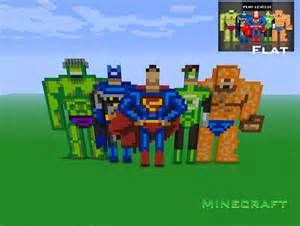 Dc and marvel heroes in minecraft by michel 89angelus on deviantart
