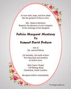 Christian Wedding Card Format