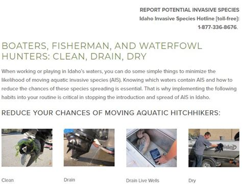 boat drain cleaner clean drain dry boats and gear to prevent transporting