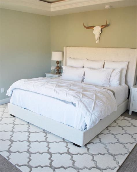 area rugs in bedrooms bedroom area rug paint the world white by brynne